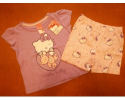 Set tricou si pantaloni Hello Kitty, fete 2 ani